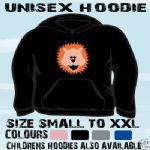 LION CARTOON PICTURE UNISEX HOODIE HOODED TOP